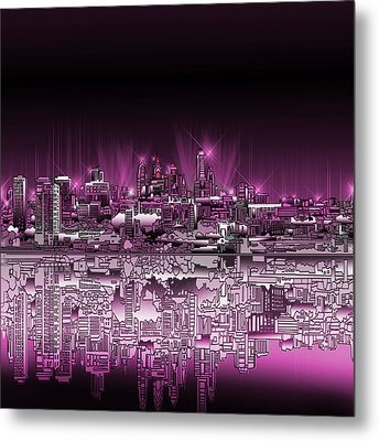 Philadelphia Skyline  Gradient 2 Metal Print by Bekim Art