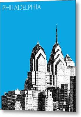 Philadelphia Skyline Liberty Place 1 - Ice Blue Metal Print by DB Artist