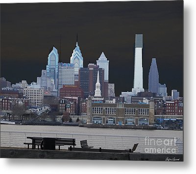 Philadelphia Skyline Metal Print by Lyric Lucas
