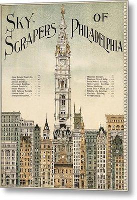 Philadelphia Skyscrapers Metal Print by Georgia Fowler
