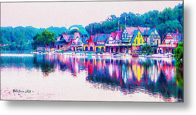 Philadelphia's Boathouse Row On The Schuylkill River Metal Print by Bill Cannon