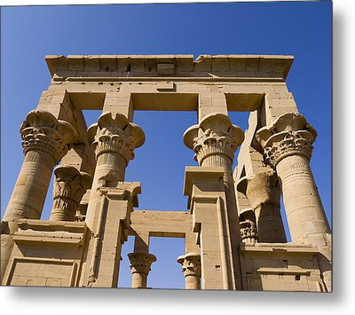 Philae Temple Egypt Metal Print by Brenda Kean