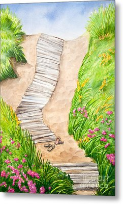 Philbin Beach Path Metal Print by Michelle Wiarda