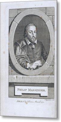 Philip Massinger Metal Print by British Library