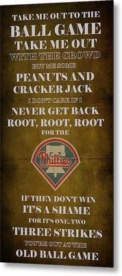 Phillies Peanuts And Cracker Jack  Metal Print by Movie Poster Prints