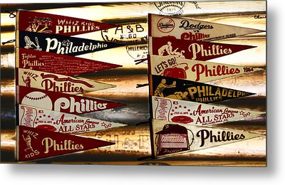 Phillies Pennants Metal Print by Bill Cannon