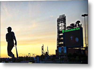 Phillies Stadium At Dawn Metal Print by Bill Cannon
