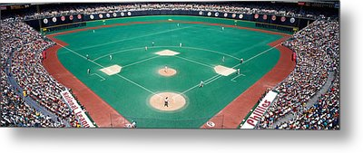 Phillies Vs Mets Baseball Game Metal Print by Panoramic Images