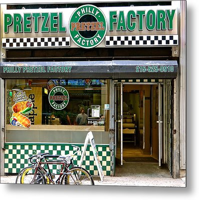 Philly Pretzel Factory Metal Print