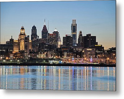 Philly Sunset Metal Print by Jennifer Ancker