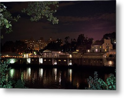 Philly Waterworks At Night Metal Print by Bill Cannon