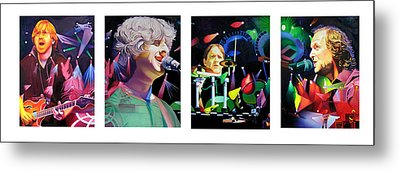 Phish Full Band Metal Print