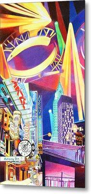 Phish New Years In New York Left Panel Metal Print by Joshua Morton