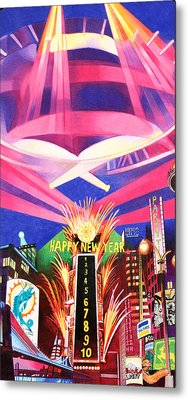 Phish New Years In New York Middle Metal Print by Joshua Morton
