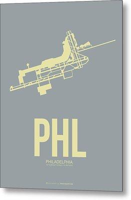 Phl Philadelphia Airport Poster 1 Metal Print