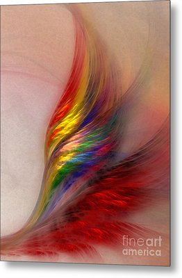 Phoenix-abstract Art Metal Print