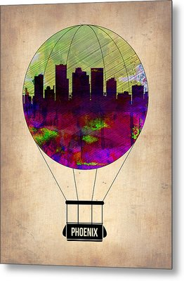 Phoenix Air Balloon  Metal Print by Naxart Studio