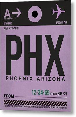 Phoenix Airport Poster 1 Metal Print by Naxart Studio
