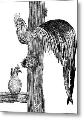 Phoenix Chicken Metal Print by Ashe Skyler