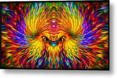 Metal Print featuring the painting Phoenix Rising  by Jalai Lama