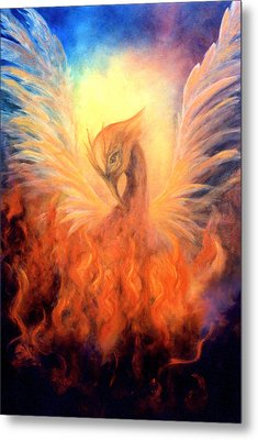 Metal Print featuring the painting Phoenix Rising by Marina Petro