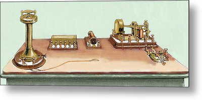 Phonoplex Telegraph Invented By Thomas Metal Print