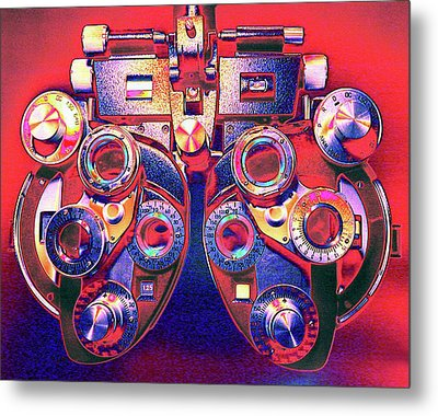 Phoropter Metal Print by Larry Berman