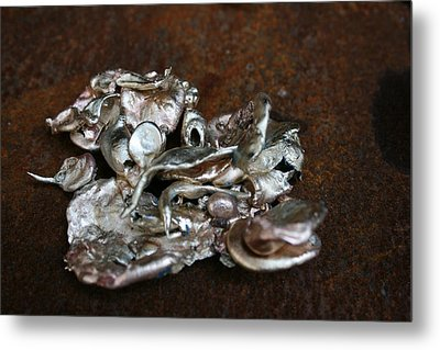Photo Of Mixed Metal Sculpture Metal Print by Matthew Brzostoski