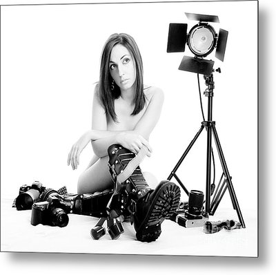 Photo Session Metal Print