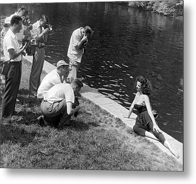 Photogenic Photo Shoot Metal Print by Underwood Archives