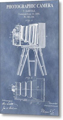 Photographic Camera Patent Metal Print by Dan Sproul