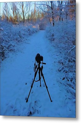 Photography In The Winter Metal Print by Dan Sproul