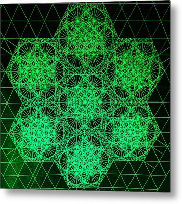 Photon Interference Fractal Metal Print by Jason Padgett