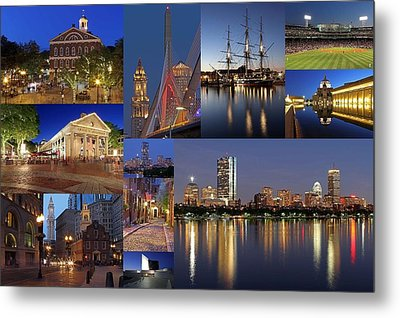 Photos Of Boston Historic Landmarks Metal Print by Juergen Roth