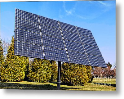 Photovoltaic Metal Print by Olivier Le Queinec