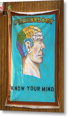 Phrenology Metal Print by Garry Gay