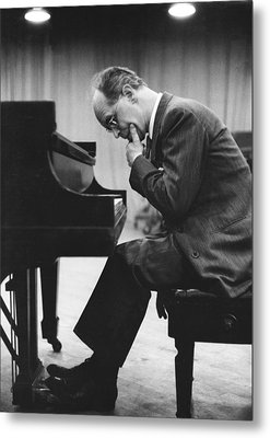Pianist Rudolf Serkin Metal Print by Underwood Archives