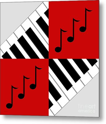 Piano Abstract 3 Metal Print by Andee Design