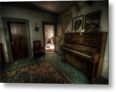 Piano Corner Metal Print by Nathan Wright