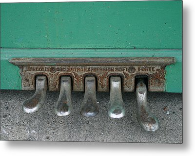 Piano Feet Metal Print by Paulette Maffucci