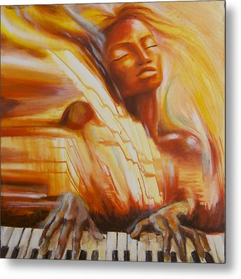 Piano Song Metal Print by Anna Huff