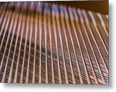 Piano Strings Metal Print by Chris McCown