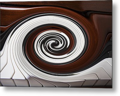 Piano Swirl Metal Print by Garry Gay