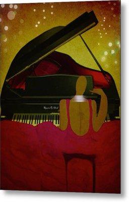 Pianochic Metal Print by Romaine Head