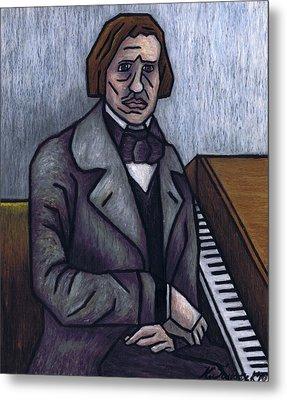 Piano's Finest Poet Fryderyk Chopin Metal Print by Kamil Swiatek