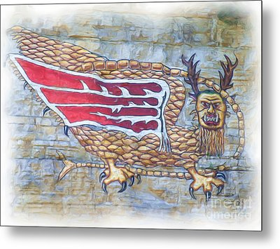 Metal Print featuring the photograph Piasa Bird In Oils by Kelly Awad