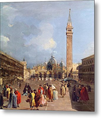 Piazza San Marco, Venice Metal Print by Francesco Guardi