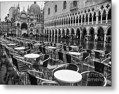Piazza San Marco Venice Metal Print by Design Remix