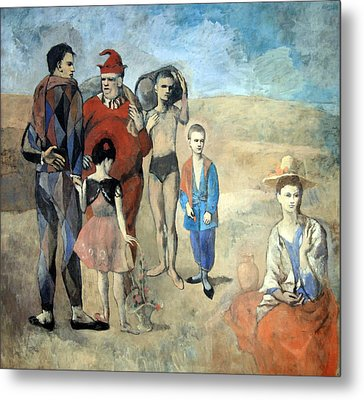Picasso's Family Of Saltimbanques Metal Print by Cora Wandel