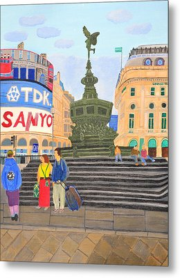 London- Piccadilly Circus Metal Print by Magdalena Frohnsdorff